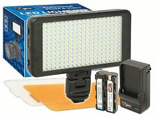 LED-230 Video Light 228 LED Kit + Battery for Digital Camera & Video Camcorder