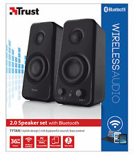 NEW TRUST 20122 TYTAN 36W PEAK 18W RMS BLUETOOTH USB POWERED 2.0 SPEAKER SET