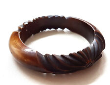 Vintage Art Deco celluloid Carved Bangle / Bracelet Beautiful