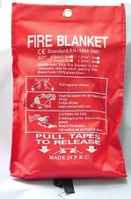 Fire Blanket Home Kitchen Work Place Safety Quick Release Extinguisher Alarm 1M