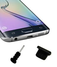 Set tappi anti polvere MicroUSB + jack per Samsung Galaxy S5 S6 S7 silicone nero