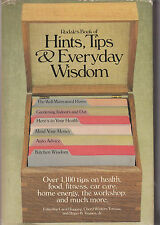 Rodale's Book of Hints, Tips and Everyday Wisdom (1985, Hardcover)