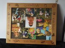 "14"" Square Wooden Picture Frame w/Embossed w/Kids Stuff, Grandkids, Play Icons"