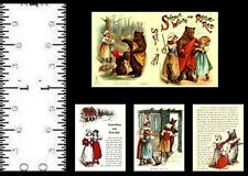 1:12 SCALE MINIATURE BOOK SNOW WHITE AND RED ROSE PRE 1900 DOLLHOUSE SCALE