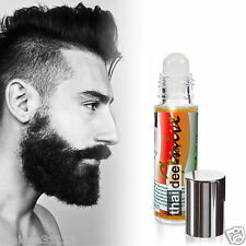 FACIAL HAIR GROWTH STIMULATOR SERUM FAST GROW MUSTACHE BEARD SIDEBURNS EYEBROWS