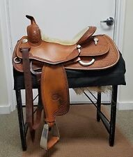 "Used FQHB 15"" Genuine Billy Cook Classic Reining Equitation Pleasure Show Saddle"