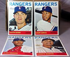 2013 TOPPS HERITAGE HIGH NUMBER TEXAS RANGERS TEAM SET JUSTIN GRIMM (4) CARDS