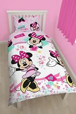 DISNEY MINNIE MOUSE HANDMADE REVERSIBLE SINGLE QUILT COVER GIRLS BEDDING SET