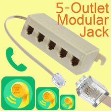 RJ11 5 Outlet Coupleur Téléphone Connecteur Splitter Doubleur Adaptateur Jack