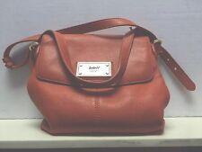 DKNY Orange Pebbled Leather Messenger Shoulder Bag/EUC