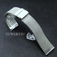 Milanaise Edelstahl Uhrenarmband 22mm Mesh Shark kompatibel Breitling