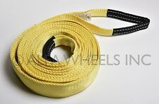 "2"" 20,000lbs Tow Strap 20 ft winch sling snatch vehicle recovery free shipping"