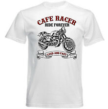 VINTAGE ITALIAN MOTORCYCLE MOTO GUZZI CAFE RACER V7 - NEW COTTON T-SHIRT