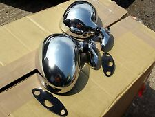 Chrome door wing Mirror set, Mazda MX5 mk1 Eunos, l/h r/h pair MX-5 mirrors, NEW