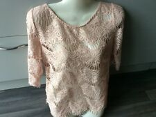 Gorgeous zara crochet style see through top size m 12
