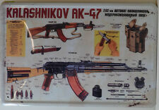 KALASHNIKOV AK-47 BAUANLEITUNG   BLECHSCHILD 20 X 30 CM (BS 295)