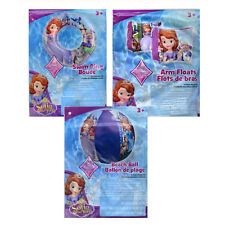 Disney Princess Sofia Kids Girls Swim Ring Tube + Arm Floats + Pool Beach Ball