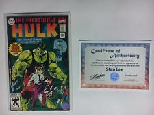 INCREDIBLE HULK #393 SIGNED BY STAN LEE W/COA BRUCE BANNER