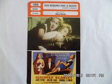 CARTE FICHE CINEMA 1956 DEUX ROUQUINES DANS LA BAGARRE Rhonda Fleming