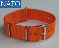 BRACELET MONTRE NATO 18mm (orange) compatible Zenith Stowa Zodiac Seiko Yema Lip