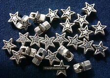 25 Sterling silver plated 6mm star shaped beads spacer beads filler beads fpb044
