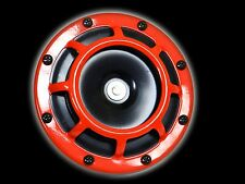 X1 UNIVERSAL 127DB SUPER TONE LOUD BLAST ROUND COMPACT HORN - RED  D