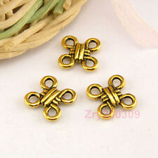 80Pcs Antiqued Gold Chinese Knot Links Connectors 10mm A4862