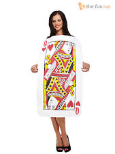 Ladies Queen of Hearts Playing Card Costume Alice In Wonderland Fancy Dress Book