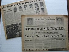 1977 Sports Sections Boston Herald & Globe: Reggie Jackson Yankees 2 Red Sox 0