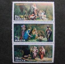 Christmas stamps, 1977, Malta, SG ref: 589-591, shepherds, the nativity, MNH