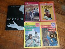 Lot of 5 LOIS LOWRY chapter fiction books ANASTASIA Krupnik GOSSMER