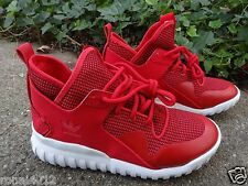 Adidas Tubular X Red White Leather & Suede Mens 8 Shoes Sneakers S77842