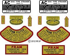 Jeep WWII, Willys MB decal-mb, Engine Fram Decal Kit, G503