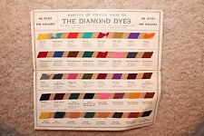 Vintage The Diamond Dyes Sample Card of Forty Colors Wells Richardson & Co