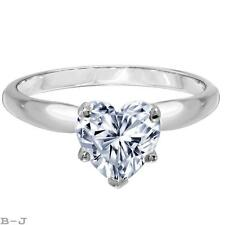 1.50CT Harte shape Solitaire Engagement Wedding Ring in Real Solid14K White Gold