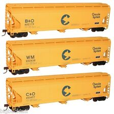 Accurail  CHESSIE/WM/B&O/C&O 3-Bay Covered Hopper Car KITS (3 car set) NIB