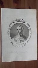 1775 Effigie/Ritratto di Papa Paolo I Pontefice (Paulo Roma Incisione Originale)