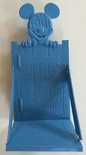 Vintage 1975 Mickey Mouse Book Holder Removable Sides Blue Gate