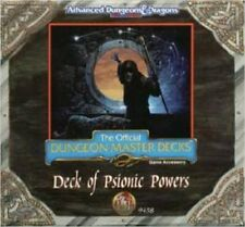 AD&D TSR CR6 DECK OF PSIONIC POWERS 9458 NEW SEALED D&D Dungeons & Dragons
