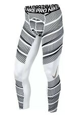 NIKE PRO COOL TRIFLOW COMPRESSION TIGHTS PANTS MENS SIZE SMALL WHITE 801980 100
