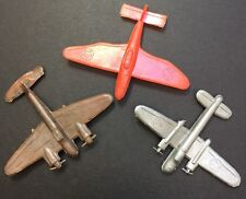 3 Vintage 1950s/60s Toy Planes Made in Hong Kong