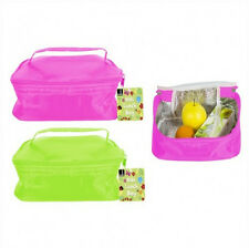 2 Insulated Kids School Picnic Travel Beach Lunch Food Drink Cool Box Cooler Bag