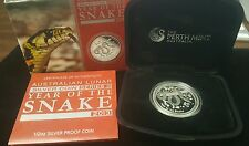 2013 Year of the Snake Australian Lunar Silver Proof Coin Series II 1/2 oz