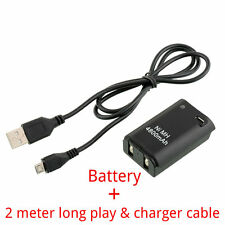 4800mAh Battery Pack + 2Meter Long Charger Cable Xbox 360 Wireless Controller