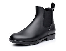 UNUSED Women's Black (Non gloss) Rain / Chelsea Boots  7.5W US