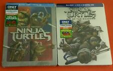 Teenage Mutant Ninja Turtles & TMNT Out Of The Shadows Blu-Ray DVD Steelbook Lot