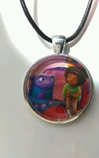 """HOME The Movie """"Oh & Tip"""" Glass Pendant with Leather Necklace"""
