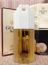 Vintage 1980s !! Gucci No 3 LARGE 4 oz 120 ml Eau de Toilette RARE DISCONTINUED