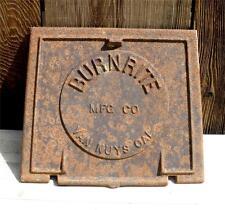 Antique Vintage BURNRITE Wood Coal Cast Iron Furnace Stove Door Part