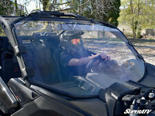 SUPER ATV CLEAR FULL FRONT WINDSHIELD CAN-AM MAVERICK X3 SCRATCH RESISTANT 2017+